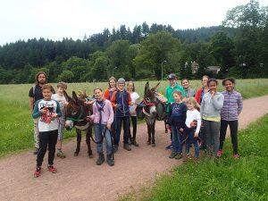 Am letzten Tag gab es eine Eselwanderung.