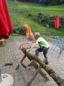 Auch das Feuer gehörte zum Mitmachtag